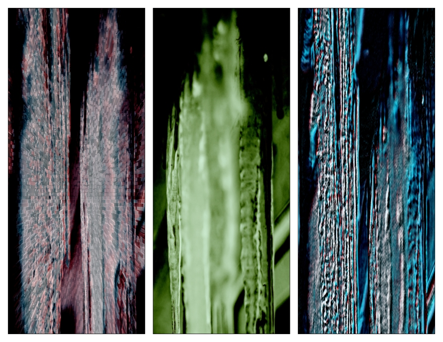 Icicle Study Abstract Triptych